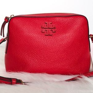 NEW Tory Burch Red Leather Crossbody